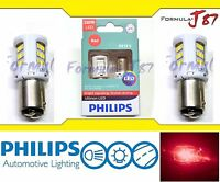 Philips Ultinon LED Light Bulb 2357 Red Brake Stop Tail Front Rear Turn Signal