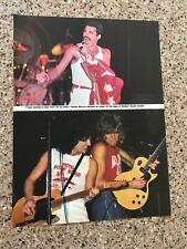 1982 Vintage 8X11 Magazine Print Color Clipping Queen'S Freddie Mercury+Nyc Msg