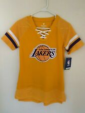Los Angeles Lakers Fanatics Branded Women's Draft Me Lace Up T-Shirt -Gold