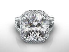 4.5 CT D VS1 DIAMOND RADIANT CUT SOLITAIRE ENGAGEMENT RING WHITE