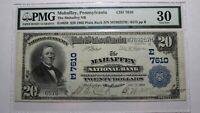 $20 1902 Mahaffey Pennsylvania PA National Currency Bank Note Bill Ch #7610 VF30