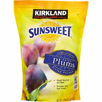 KIRKLAND SUNSWEET Dried Plums Pitted Prunes 3.5 lb BAG You Choose 1,2,3,5 Bags