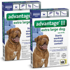 Bayer Advantage II For Dogs Over 55lbs - 12Pack (US EPA Approved) Free Shipping