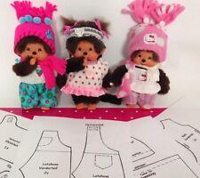 Großes SET Schnittmuster Puppenkleidung Monchhichi 20cm - 22cm Monchi Monchichi