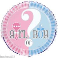 "Baby Shower 18"" Helium Foil Balloon Gender Reveal Supplies Unisex Decorations"