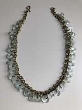 Recycled Glass Brass Beaded Necklace Ethnic