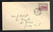 1943 Jersey England Channel Islands Occupation Cover to St Helier