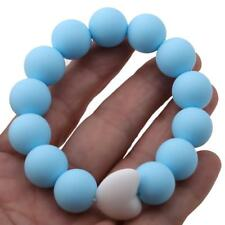 Silicone Chew Biting Bracelet Baby Kid Teething Teether Bangle Chewy Beads Toy Q