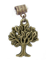 Tree of Life Camping Bronze Tone Brown Dangle Charm for European Bead Bracelets