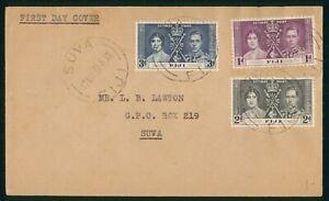 Mayfairstamps Fiji 1937 Suva Coronation Set First Day Cover wwp73183