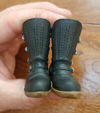 """1/6 scale 21st century toys plastic Hell Angel bike Boots for 12"""" figure"""