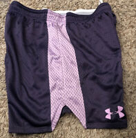 Under Armour WOMAN'S Size SMALL Loose Fit Athletic Shorts Purple Heat Gear NICE