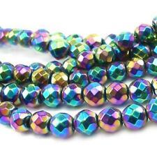 Non Mag Hématite Pces Création de Bijoux Rondes Facetté Perles 8mm D/'Or 45