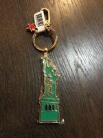 "STATUE OF LIBERTY NEW YORK Green metal keyring key chain keychain 3.5"""