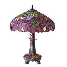Chloe Lighting Tiffany Style Wisteria Table Lamp CH18045PW16-TL2