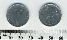 Turkey 1964 - 25 Kurus Stainless Steel Coin - Standing figure facing