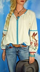 NWT SUNDANCE CATALOG Paloma Embroidered Top Size  Large