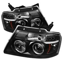 Spyder Black Projector Headlights - LED Halo for 04-08 Ford F150