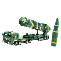 Pull Back Toy Cars Military 1:64 Diecast Missile Truck Vehicle Toy Gift Car