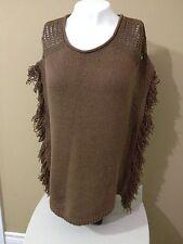 OLSEN EUROPE Women's Brown Knit Sleeveless Sweater - Size Medium (10) - NWT