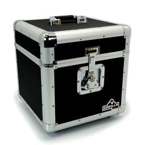 "Gorilla LP100 12"" Vinyl Record Storage Box Flight Carry Case Holds 100 (Black)"