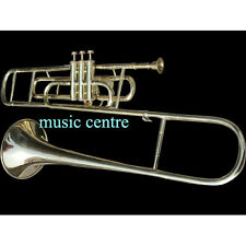 TROMBONE VALVE OF PURE BRASS MADE IN BRASS POLISH + CASE+ MOUTHPC+FREE SHIPPING