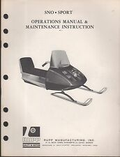 Vintage Rupp Snowmobile Sno-Sport Operation & Owners Manual (553)