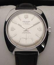 Vintage Armbanduhr Oriosa in Edelstahl – Handaufzug - Cal. Unitas 6376