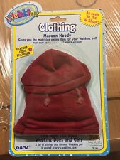 Webkinz Clothing Maroon Hoody With Online Code From Ganz Plush
