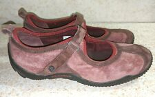 Merrell Circuit Hiking Shoe Mary Jane Size 8 M Suede Brown Red J76076, MSRP $139