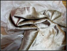 RARE LUXURIOUSLY SOFT ANTIQUE VICTORIAN FRENCH SILK VELVET FABRIC FRAG TAUPE