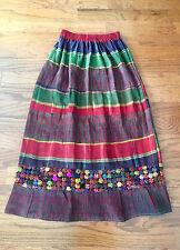 Vintage Thai Ikat Silk Skirt