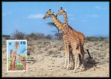 KENIA MK FAUNA GIRAFFE KENYA ANIMALS MAXIMUMKARTE CARTE MAXIMUM CARD MC CM bf25