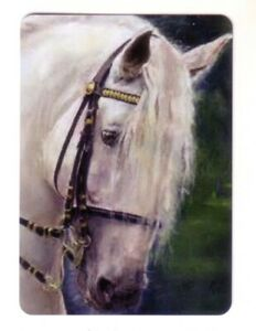 Beautiful Lipizzaner Horse -- Linen Modern Wide Swap Playing Card