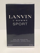 LANVIN L'HOMME SPORT MEN COLOGNE SPRAY 3.3 OZ / 100 ML NEW IN SEALED BOX