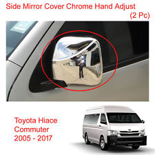 Wing Side Mirror Cover Chrome Hand Adj For Toyota Hiace Commuter Van 2005 - 2017