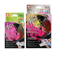 Sakura Koi CAC Watercolor Paint Set of 12/24 Colors  Metal Fluorescence Peal