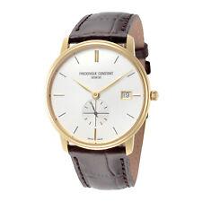 Frederique Constant FC-245V4S5 Slimline Men's 37mm Quartz Silver Dial Watch
