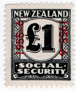 (I.B) New Zealand Revenue : Social Security £1 (1955)