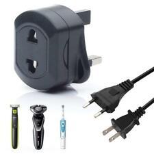 EU 2 Pin To UK 3 Pin 5Amp Universal Adaptor Plug For Shaver/Toothbrush Adapter