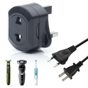 EU 2 Pin To UK 3 Pin 5Amp Universal Adaptor Plug For Shaver/Toothbrush Adapter