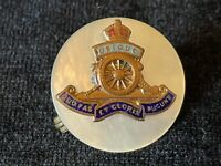 WW2 Royal Artillery RA Brass Enamel MOP Sweetheart Brooch Badge Military Army