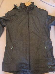 Women's Ladies Peter Storm Glide Marl Waterproof  Jacket Coat - Grey - Size 12