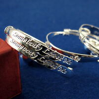 1 Pair BABY SILVER CHRISTENING BANGLE BRACELET ADJUSTABLE BOY GIRL 0-6 YEAR GIFT