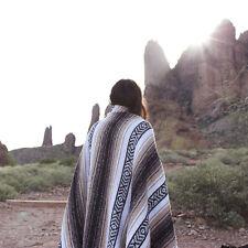 Classic Mexican Blanket Authentic Vintage 52x72 Yoga Serape Beach Camping Falsa