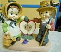 Vintage Lefton Boy & Girl Farming Figurine