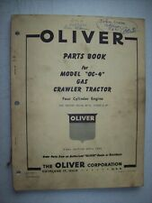 Original Oliver Model Oc 4 Gas Crawler Tractor Parts Manual Printed 1959