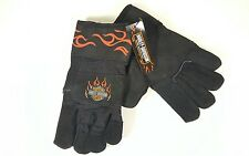 Harley-Davidson Leather Palm Patch Hand Protection Work Gloves Mens Black Size L