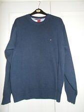 Mens Tommy Hilfiger blue jumper sweater size L VGC