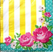 bROTHER sISTER Set of 50 Luncheon Decoupage Napkins - Pink Floral Sprinkles